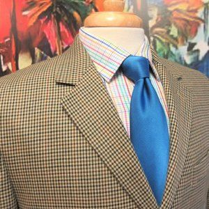 40 SHORT- IZOD Mens 2 BUTTON SPORT COAT GINGHAM